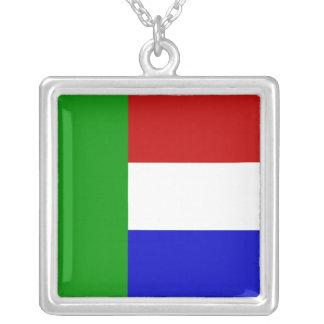 Vierkleur Silver Plated Necklace