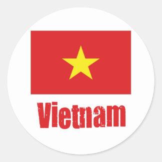 Viet Nam Classic Round Sticker