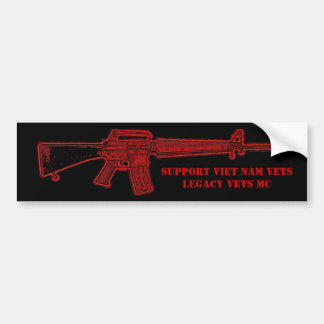 Viet Nam/Legacy Vets MC M-16 Bumper Sticker