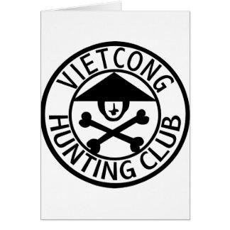 Vietcong Hunting Club Greeting Card