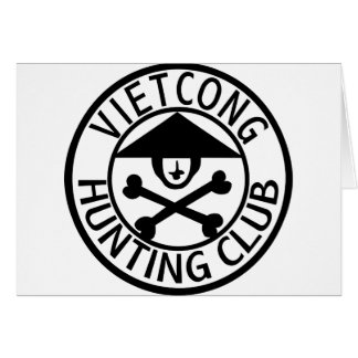 Vietcong Hunting Club Greeting Card