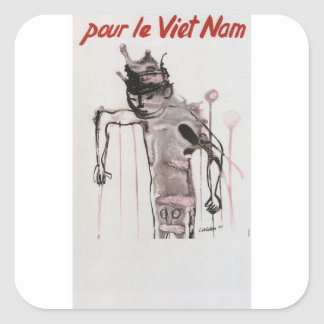 Vietmam Propaganda Poster Square Sticker