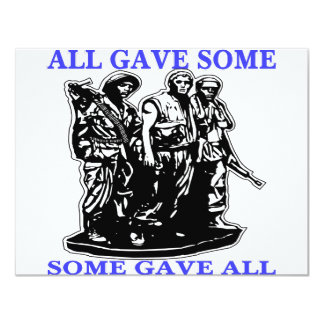 Vietnam All Gave Some & Some Gave All Custom Invitations