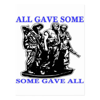 Vietnam All Gave Some & Some Gave All Postcard