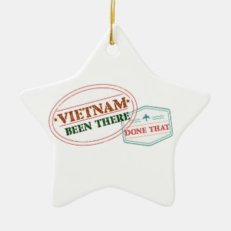 Vietnam Been There Done That Ceramic Star Ornament