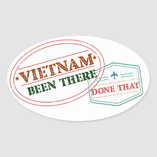 Vietnam Been There Done That Oval Sticker