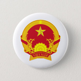 Vietnam coat of arms 2 inch round button