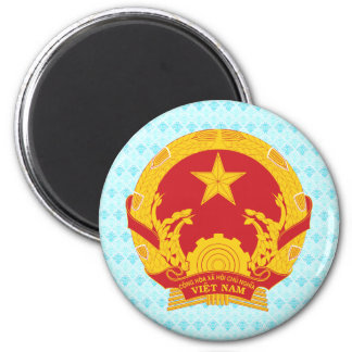 Vietnam Coat of Arms detail 2 Inch Round Magnet