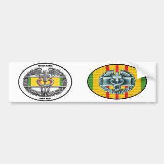 Vietnam Combat Medical Badge Sticker Pair