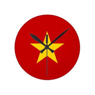 vietnam country flag clock