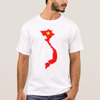 Vietnam Country Map T-shirt