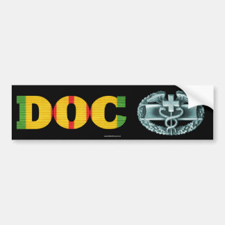 Vietnam DOC Combat Medical Badge Sticker