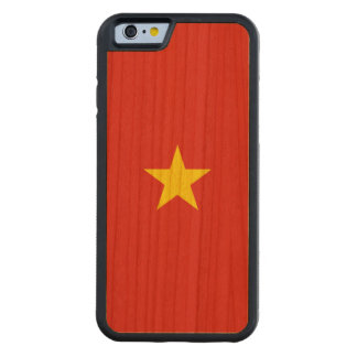 Vietnam Flag Carved Cherry iPhone 6 Bumper Case