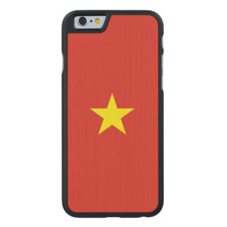 Vietnam Flag Carved Maple iPhone 6 Case
