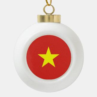 Vietnam Flag Ceramic Ball Ornament
