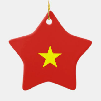 Vietnam Flag Ceramic Ornament