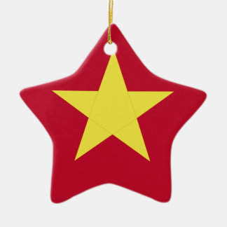 Vietnam flag ceramic star ornament
