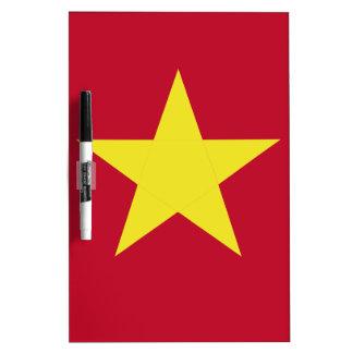 Vietnam flag dry erase board