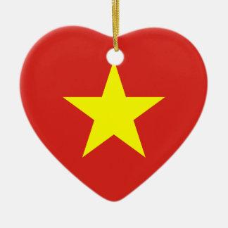 Vietnam Flag Heart Ornament