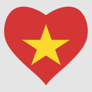 Vietnam Flag Heart Sticker
