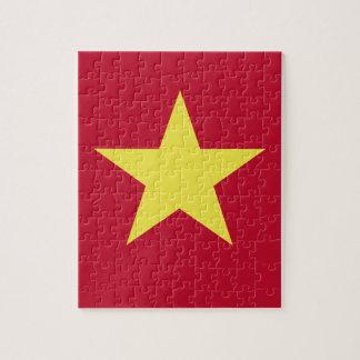 Vietnam flag jigsaw puzzle