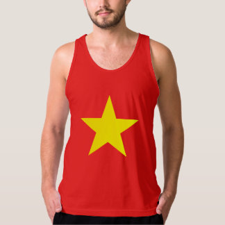 Vietnam Flag Men Tank Top