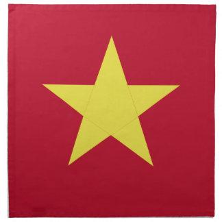 Vietnam flag napkin