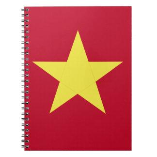Vietnam flag notebooks