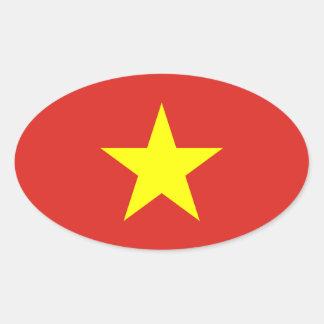 Vietnam Flag Oval Sticker