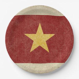 Vietnam Flag Paper Plates