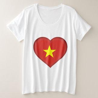 Vietnam flag plus size T-Shirt