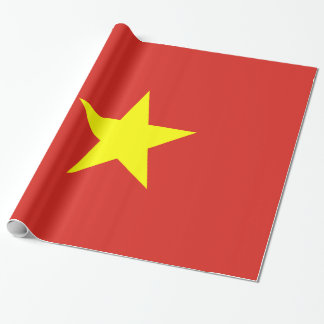 Vietnam Flag Wrapping Paper
