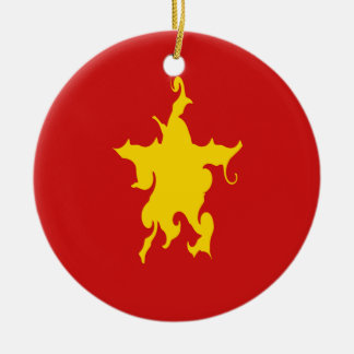 Vietnam Gnarly Flag Ceramic Ornament