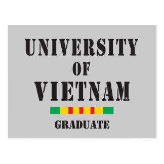 Vietnam graduate stencil postcard