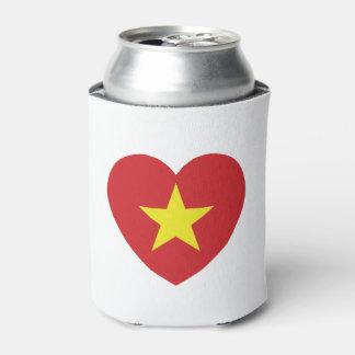 Vietnam Heart Flag Can Cooler