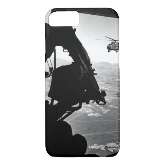 Vietnam: helicopter and soldier approaching targe iPhone 7 case