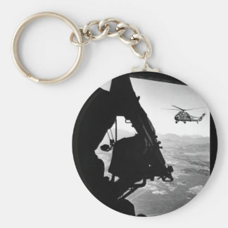 Vietnam:  helicopter and soldier approaching targe keychain