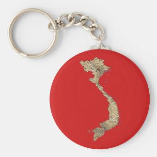 Vietnam Map Keychain
