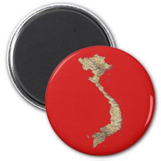 Vietnam Map Magnet