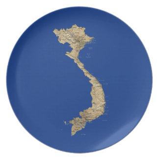 Vietnam Map Plate