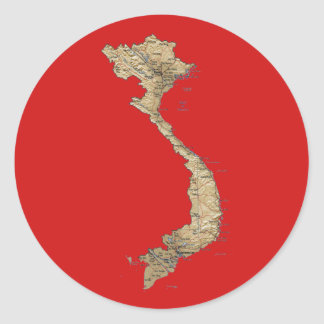 Vietnam Map Sticker