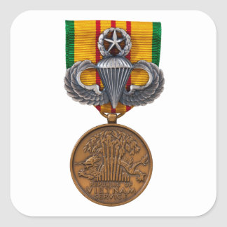 Vietnam Master Airborne Square Sticker