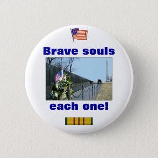 Vietnam Memorial - Brave souls, each one button