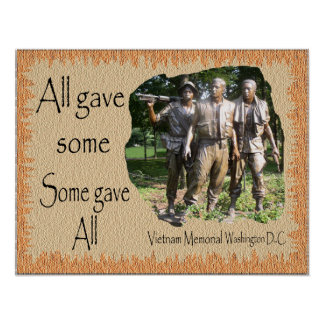 Vietnam Memorial on Background Poster