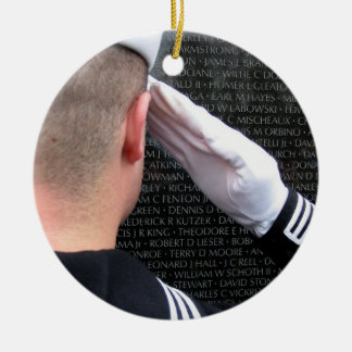 Vietnam Memorial Wall Ceramic Ornament