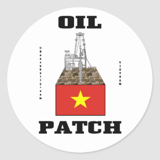 Vietnam Oil Patch,Oil Field Decal,Oil,Gas,Gift Classic Round Sticker