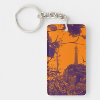 Vietnam Oldest Highest Lighthouse Orange Photo Keychain