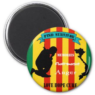 Vietnam PTSD Survivor Magnet