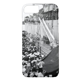 Vietnam refugees. USS Montague lowers a ladder ov iPhone 7 Case
