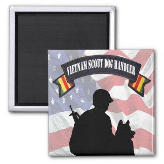 Vietnam Scout Dog Handler Magnet